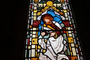 Stained Glass Depiction of St. Matthew at Christ Church